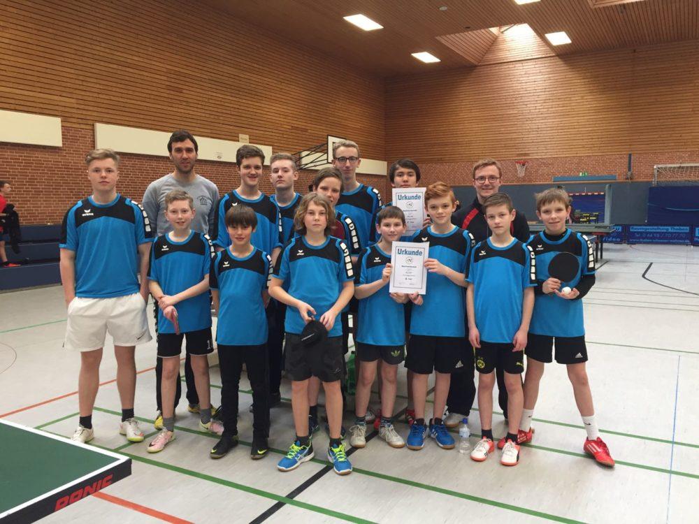 Zwei AGO-Teams beim Bezirksentscheid von 'Jugend trainiert für Olympia'