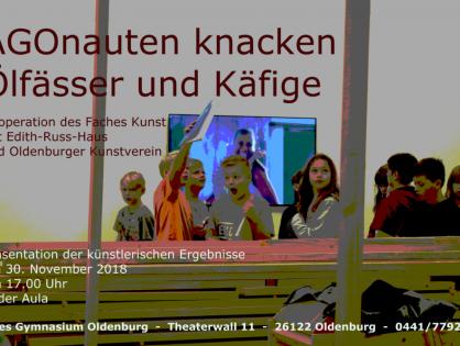"""Vernissage: """"AGOnauten knacken Ölfässer und Käfige"""""""