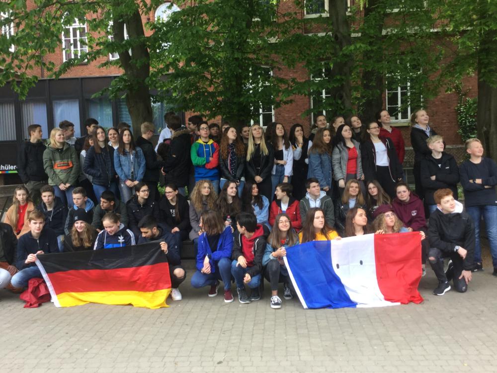 30 französische Gastschüler am AGO herzlich empfangen