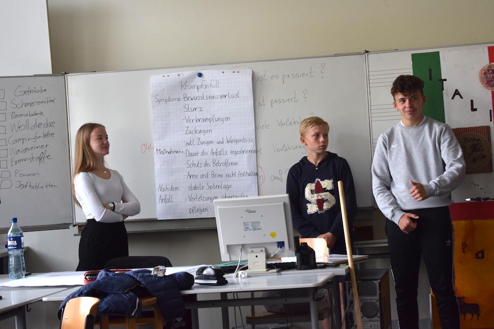 Ausbildung der Schulsanitäter 2019