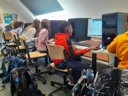Digitale Schule - 5te Klassen lernen IServ kennen